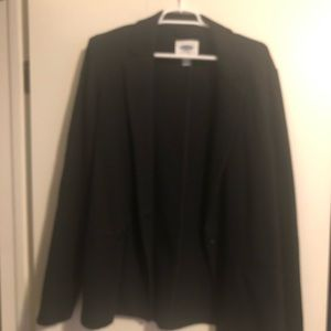 Old Navy One Button Black Blazer, L Tall
